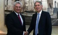 Presidente cubano cumple visita en Reino Unido