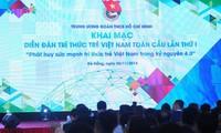 Unos 200 delegados a primer Foro de Intelectuales Jóvenes Vietnamitas