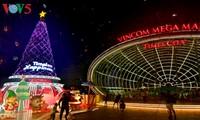 Ambiente navideño de Hanói