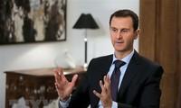 Siria se encuentra en otra guerra, advierte el presidente al-Assad