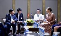 Dirigente vietnamita recibe a la princesa Victoria de Suecia