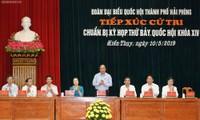 Premier vietnamita se reúne con el electorado de Hai Phong