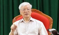 Presidente vietnamita revisa situación nacional en reunión con dirigentes clave