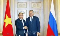 Primer ministro de Vietnam se reúne con titulares de la Duma Estatal y el Consejo Federal de Rusia