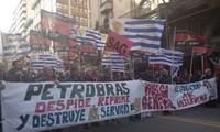Inicia en Uruguay paro general en defensa de trabajadores