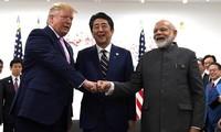 Líderes de la India, Estados Unidos y Japón hablan sobre la cooperación trilateral en Indo-Pacífico