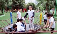 El verano y los sitios de recreación para los niños vietnamitas