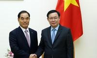 Vicepremier vietnamita recibe al presidente de la Corporación de Desarrollo Rural de Corea del Sur