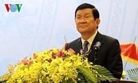 ประธานประเทศเจืองเติ๊นซางให้การต้อนรับคณะผู้แทนทหารผ่านศึกกองพล 324