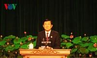 ท่านเจืองเติ๊นซางเข้าร่วมการประชุมใหญ่การแข่งขันรักชาติของนครโฮจิมินห์