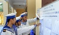 บัตรเลือกตั้งถึงมือของผู้มีสิทธิ์เลือกตั้งในอำเภอเกาะเจื่องซา
