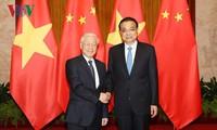 เลขาธิการใหญ่พรรคเวียดนามหารือกับนายกรัฐมนตรีจีน