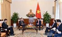 รองนายกรัฐมนตรีและรัฐมนตรีต่างประเทศฝามบิ่งมิงห์ให้การต้อนรับเอกอัครราชทูตสาธารณรัฐเช็ก