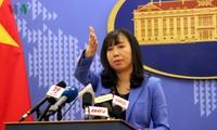 เรียกร้องให้จีนให้ความเคารพอธิปไตยเหนือหมู่เกาะหว่างซาหรือพาราเซลล์ของเวียดนาม