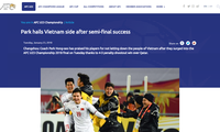 ทีมฟุตบอลยู - 23 เวียดนามได้รับความสนใจเป็นพิเศษจากสื่อต่างชาติ