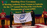 สภาแห่งชาติเวียดนามมอบตำแหน่งประธานเอพีพีพเอฟให้แก่รัฐสภากัมพูชา