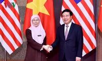 รองนายกรัฐมนตรีฝ่ามบิ่งมิงห์เจรจากับรองนายกรัฐมนตรีมาเลเซีย Wan Azizah