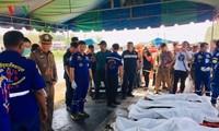 มีชาวเวียดนามเสียชีวิตจากอุบัติเหตุรถพ่วง 18 ล้อชนรถโดยสารที่อำเภอท่ามม่วงจังหวัดกาญจนบุรี