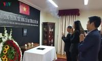 พิธีไว้อาลัยและเปิดสมุดไว้อาลัยอดีตประธานประเทศเวียดนาม เลดึ๊กแองห์ ณ ประเทศชิลีและแทนซาเนีย