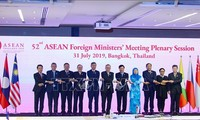 รัฐมนตรีต่างประเทศอาเซียนย้ำถึงปัญหาทะเลตะวันออกในการประชุมกับจีน