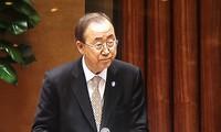 Tổng Thư ký Ban Ki Moon phát biểu tại Quốc hội Việt Nam