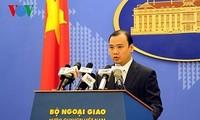 Việt Nam ủng hộ giải quyết các tranh chấp ở Biển Đông bằng các biện pháp hòa bình