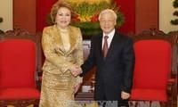 Việt Nam hết sức coi trọng phát triển quan hệ Đối tác chiến lược toàn diện với Liên bang Nga