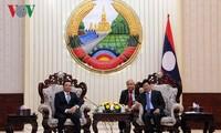 Thủ tướng Lào tiếp Đoàn đại biểu cấp cao Bộ tài chính Việt Nam
