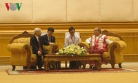 Tổng Bí thư Nguyễn Phú Trọng hội kiến với Chủ tịch Quốc hội Myanmar