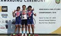 Xe đạp nữ Việt Nam lần đầu tiên giành tấm HCV châu Á