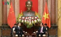 Chủ tịch nước Trần Đại Quang tiếp Ủy viên Quốc vụ, Bộ trưởng Ngoại giao Trung Quốc Vương Nghị
