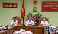 Phó thủ tướng Trương Hòa Bình làm việc tại Đak Lak