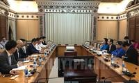 Lãnh đạo Thành phố Hồ Chí Minh tiếp đoàn đại biểu Phòng Thương mại và Công nghiệp Nhật Bản