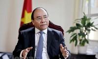 Thủ tướng Nguyễn Xuân Phúc trả lời phỏng vấn báo The Straits Times