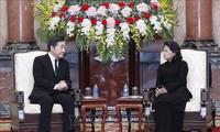 Quyền Chủ tịch nước Đặng Thị Ngọc Thịnh tiếp Thủ tướng Hàn Quốc Lee Nak-yeon