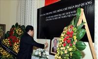 Đại sứ quán Việt Nam tại các nước tổ chức lễ viếng Chủ tịch nước Trần Đại Quang