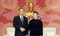 Chủ tịch Quốc hội Nguyễn Thị Kim Ngân tiếp Bí thư Ủy ban Kiểm tra Kỷ luật Trung ương Đảng Cộng sản Trung Quốc Triệu Lạc Tế