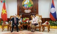 Tổng Bí thư, Chủ tịch nước hội kiến Thủ tướng và Chủ tịch Quốc hội Lào