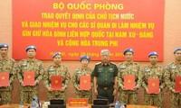 Thêm 7 sỹ quan Việt Nam đi làm nhiệm vụ gìn giữ hoà bình Liên Hợp quốc