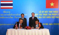 Ký thư thỏa thuận hợp tác đấu tranh phòng chống tội phạm ma túy Việt Nam – Thái Lan