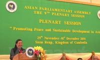 Chủ tịch Quốc hội Campuchia đánh giá cao vai trò đoàn đại biểu Quốc hội Việt Nam tại Hội nghị APA-9
