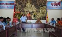 Ban chỉ đạo Tây Nam bộ thăm, chúc tết Chol chnam thmay tỉnh Trà Vinh
