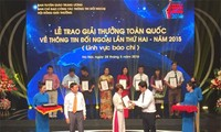 Lễ trao Giải thưởng Toàn quốc về Thông tin Đối ngoại 2016