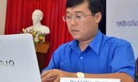 การประชุมวีดีโอคอนเฟอร์เร้นซ์ระหว่างกรรมการบริหารสมาคมนักศึกษาเวียดนามกับนักศึกษาเวียดนามที่กำลังศึก