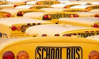 American yellow school bus