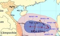 จังหวัดต่างๆทางภาคกลางเวียดนามป้องกันพายุ Gaemi