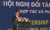 ท่านเจืองเติ๊นซางประธานประเทศเวียดนามเข้าร่วมการประชุมหุ้นส่วนสภากาชาดเวียดนาม