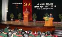 Thủ tướng Nguyễn Xuân Phúc dự Lễ khai giảng năm học mới của Học viện Quốc phòng