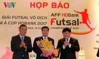 Tổng Giám đốc VOV Nguyễn Thế Kỷ dự Họp báo Giải Futsal Đông Nam Á