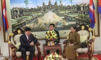 Lãnh đạo Campuchia tiếp đoàn công tác của Đài Tiếng nói Việt Nam